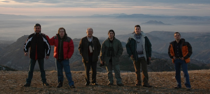 "De izda. a dcha.: Alberto López, Aniceto Porcel, Francisco Ortiz, Sergio Alonso ""Zerjillo"", Jesús Cano, Jesús Ríos"