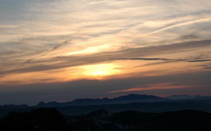 Puesta de Sol de 13 de enero de 2007 desde el Dornajo (A.Porcel)
