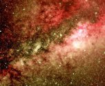 Imagen 2 - Sección de la imagen 1 en falso color, tratada con filtros virtuales para aislar diferentes longitudes de onda y resaltar estructuras en las nubes de gas - Pulsar para ampliar - (A.Porcel) .
