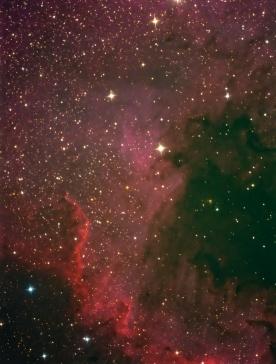 Nebulosa de Norte América - NGC7000 (sección)