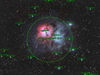 Identificación de objetos en el campo (Astrometry.net)