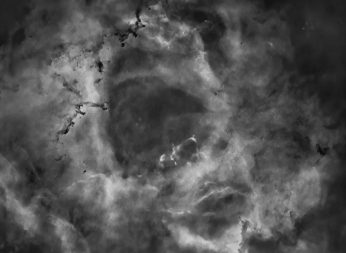 Nebulosa Roseta II (sin estrellas) – A. Porcel (SAG/OLA)