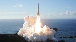 """Lanzamiento de la zona marciana """"EL Amal"""" el 20 de julio de 2020 desde el Centro Espacial de Tanegashima (Japón)"""